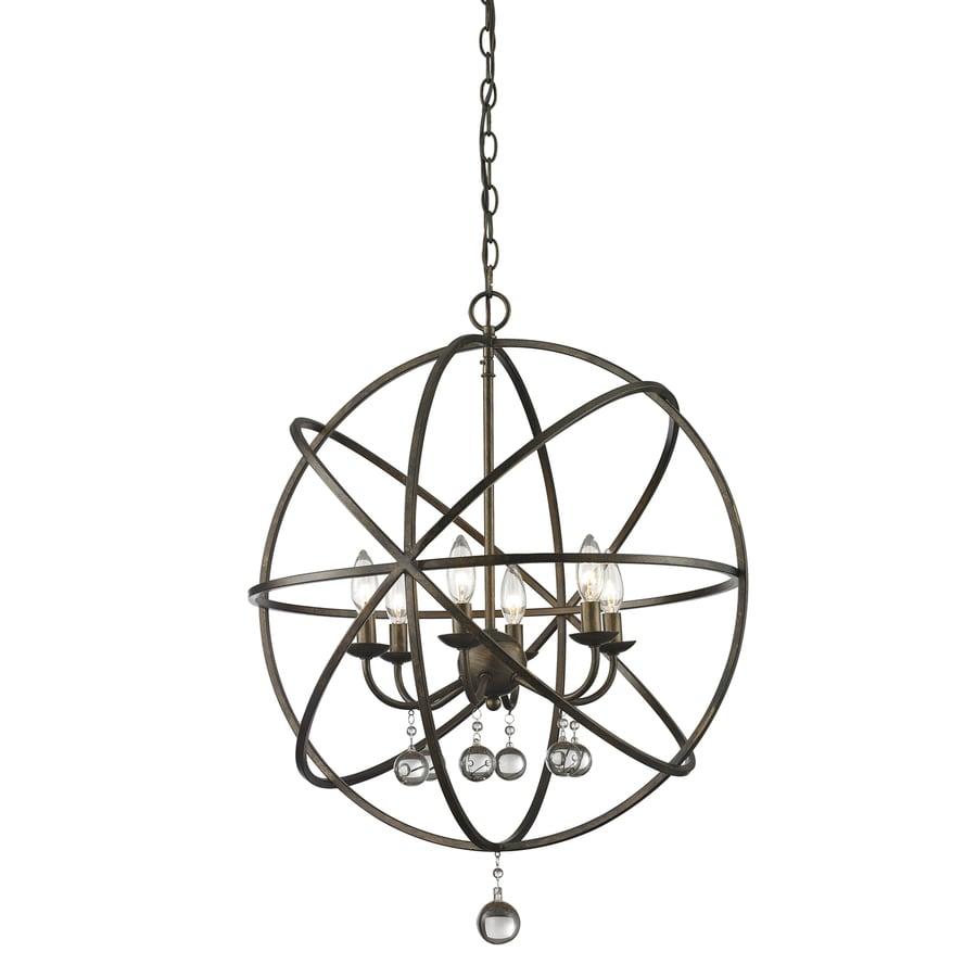 Z-Lite Acadia 24-in 6-Light Golden bronze Novelty Globe Chandelier