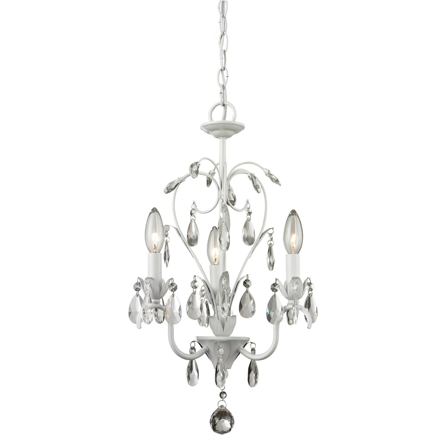 Shop z lite princess chandeliers 12625 in 3 light matte white z lite princess chandeliers 12625 in 3 light matte white country cottage candle arubaitofo Choice Image
