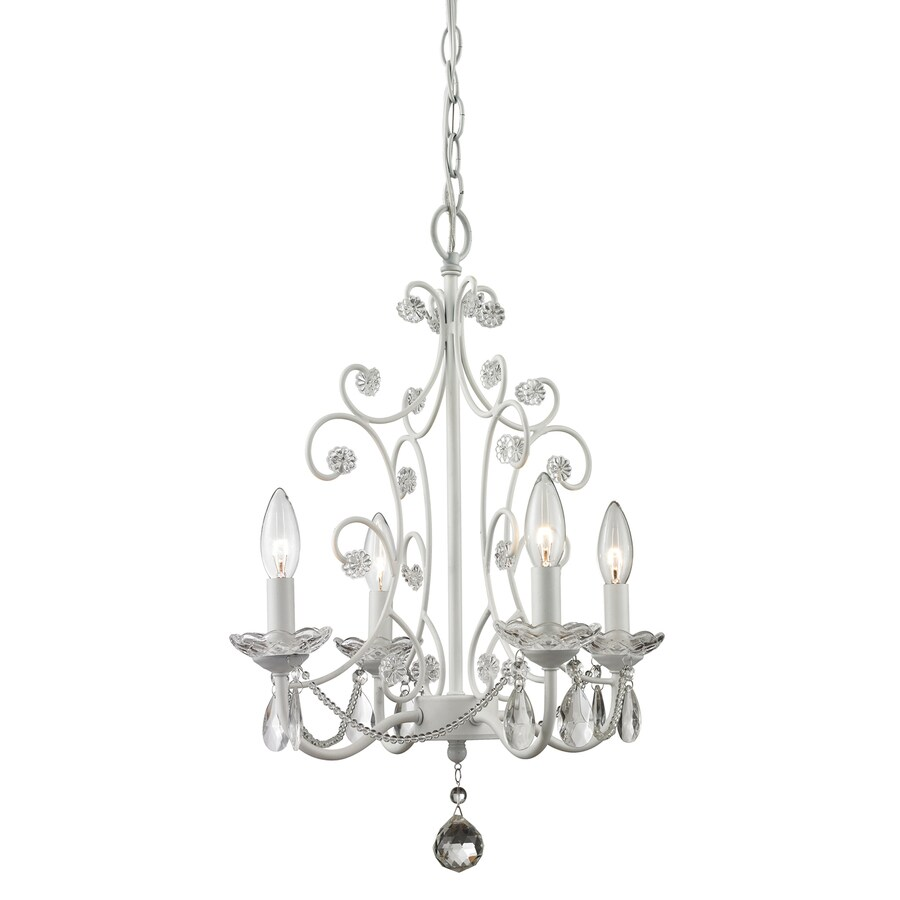 Shop z lite princess chandeliers 15375 in 4 light gloss white z lite princess chandeliers 15375 in 4 light gloss white country cottage candle arubaitofo Choice Image