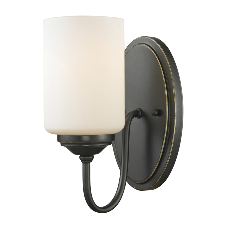 Z-Lite Cardinal 5-in W 1-Light Olde Bronze Hardwired Wall Sconce
