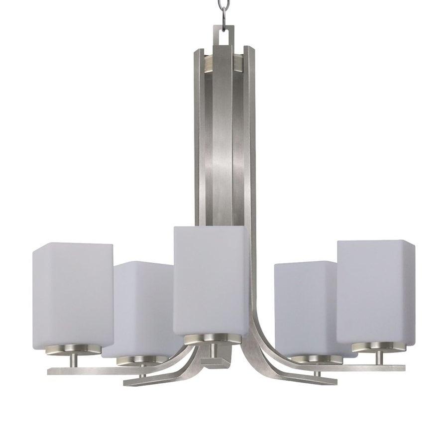 Whitfield Lighting Chianna 23.5-in 5-Light Satin steel Shaded Chandelier