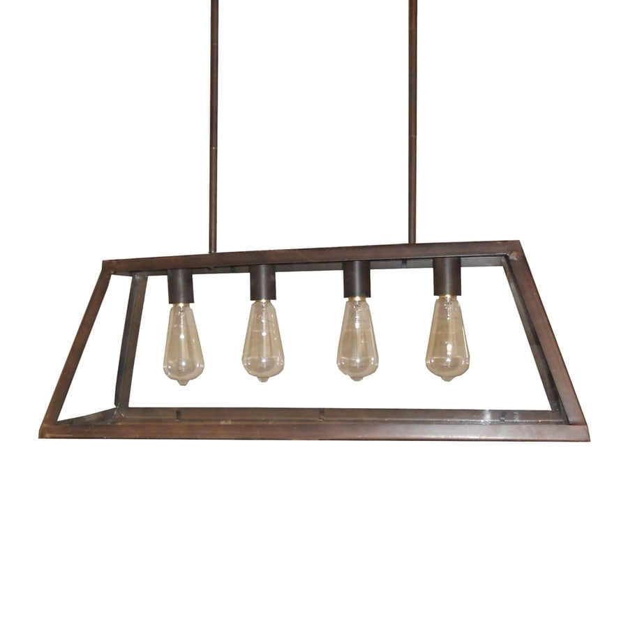 Whitfield Lighting Moira 29.75-in 4-Light Oil-Rubbed bronze Rustic Linear Chandelier