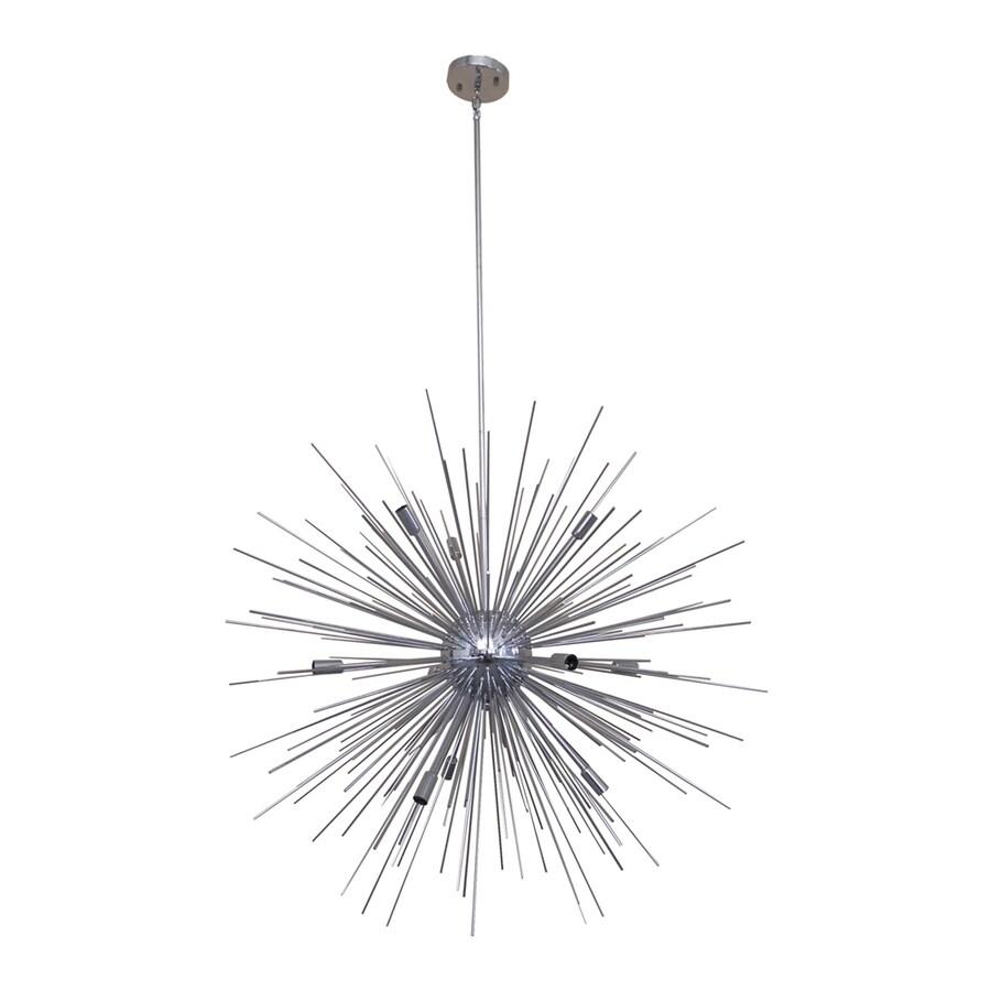 Whitfield Lighting Jennifer 36-in 10-Light Chrome Novelty Abstract Chandelier
