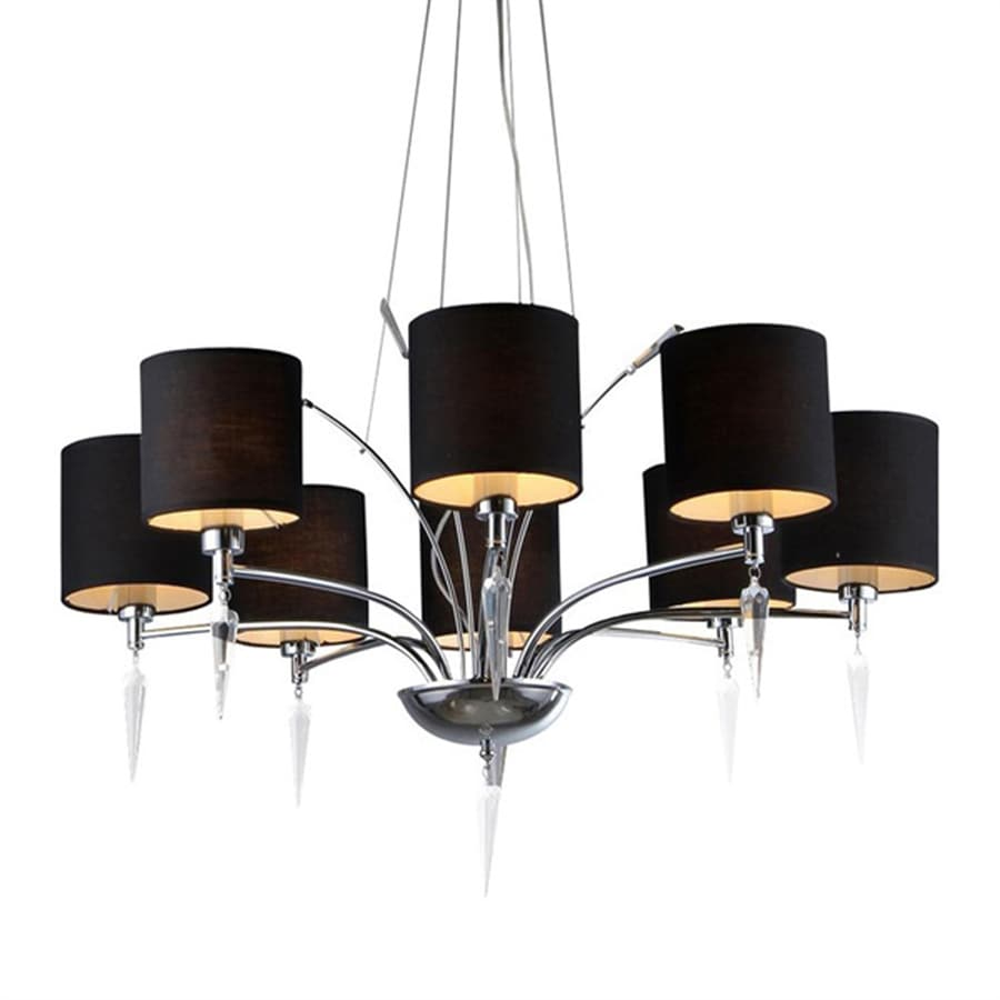 Warehouse of Tiffany 30-in 8-Light Chrome Shaded Chandelier