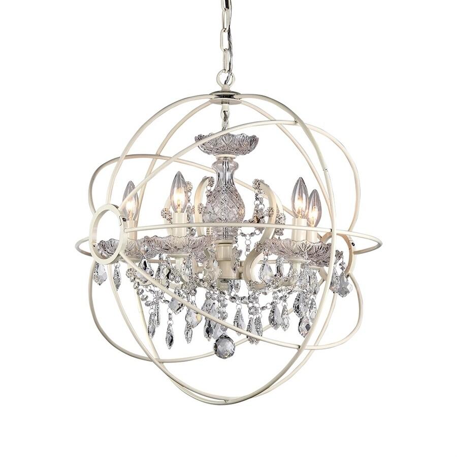 Warehouse Of Tiffany Saturn's Ring 4-Light White Glam