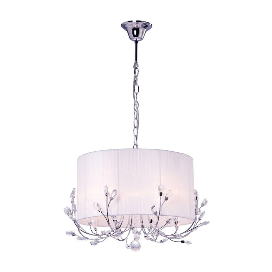 warehouse of tiffany chandelier. Warehouse Of Tiffany Robin 21-in 4-Light Chrome Crystal Drum Chandelier