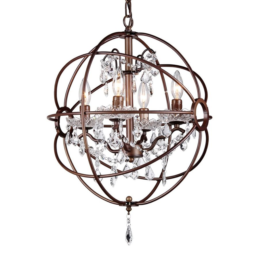 Warehouse of Tiffany Edward's 16-in 5-Light Antique bronze Crystal Candle Chandelier