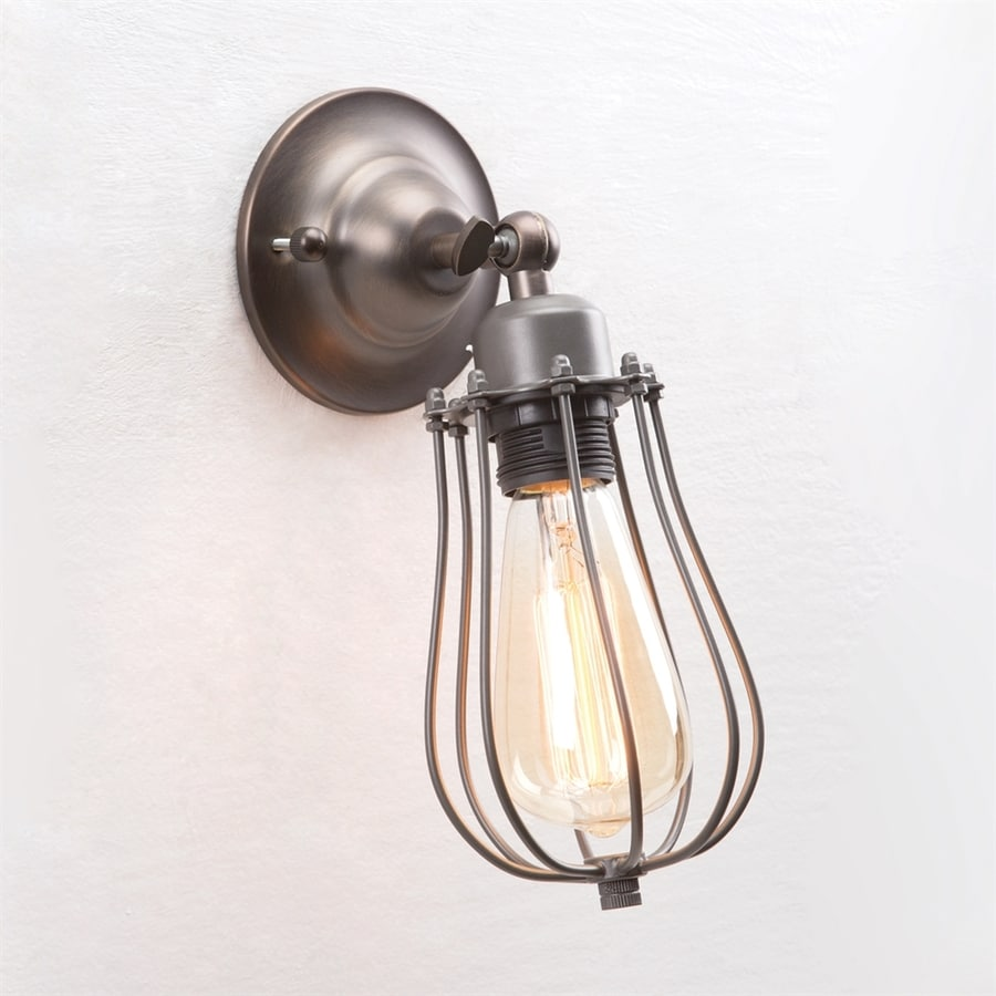 Yosemite Home Decor 4.75-in W 1-Light Oil Rubbed Bronze Industrial Arm Wall Sconce