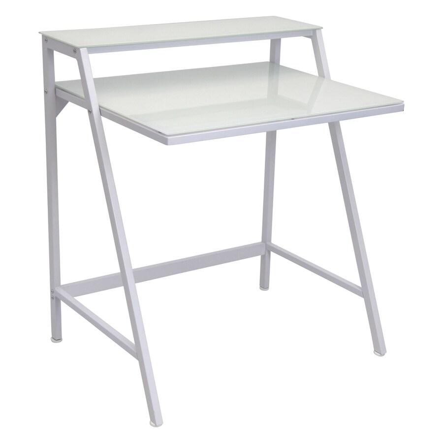 Lumisource Contemporary White Writing Desk