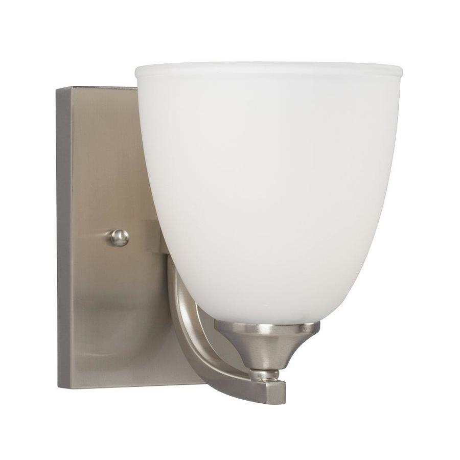 Galaxy Creston 5.5-in W 1-Light Brushed Nickel Arm Wall Sconce