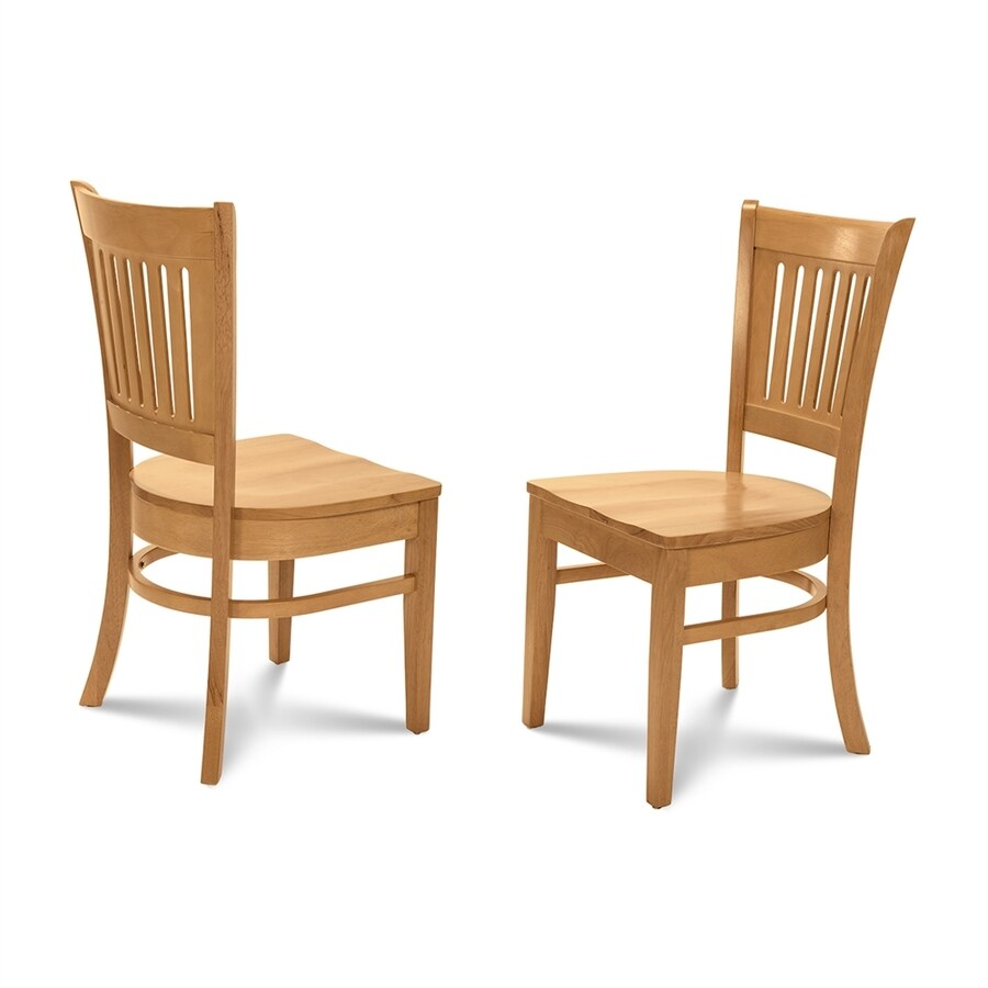 M&D Furniture Set of 2 Midu Oak Side Chair