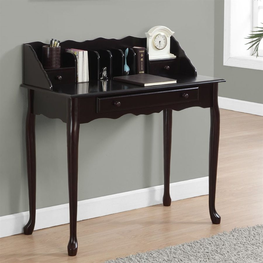 Monarch Specialties Traditional Dark Cherry Writing Desk