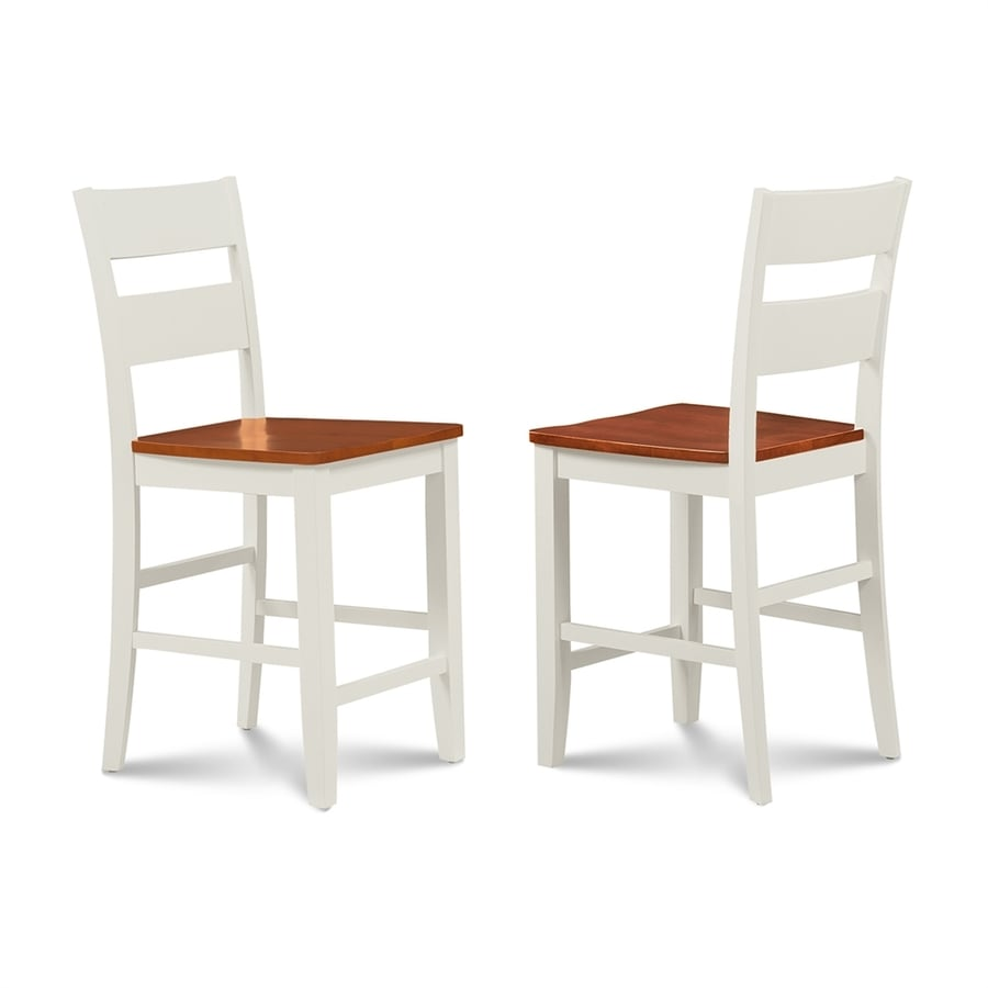 M&D Furniture Sunderland Set of 2 Casual White/Cherry Counter Height