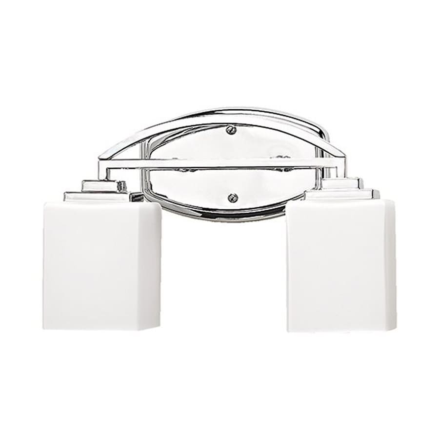 Mount Vanity Light Up Or Down : Shop Russell Lighting Vienna 2-Light 9-in Polished Chrome Rectangle Vanity Light at Lowes.com