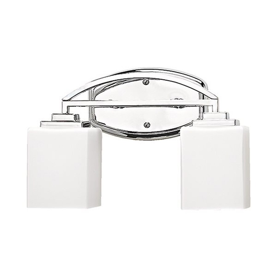 Shop Russell Lighting Vienna 2-Light 9-in Polished Chrome Rectangle Vanity Light at Lowes.com
