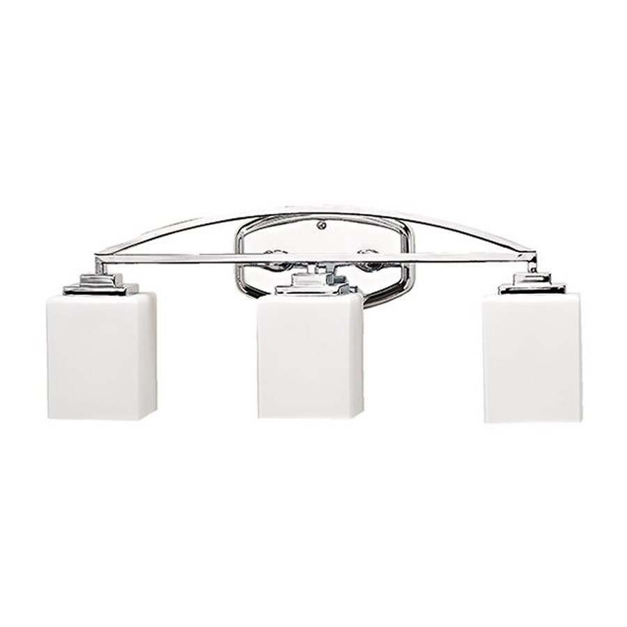 Russell Lighting Vienna 3-Light 9-in Polished Chrome Rectangle Vanity Light