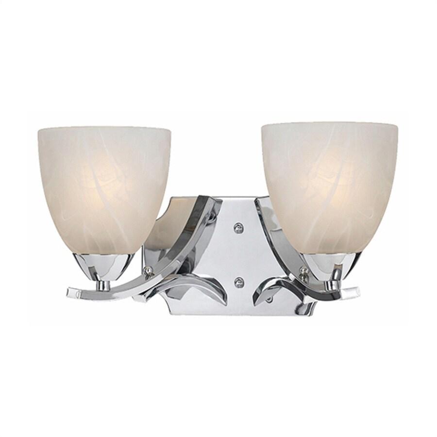 Lumenno Value 2-Light 8-in Chrome Bell Vanity Light