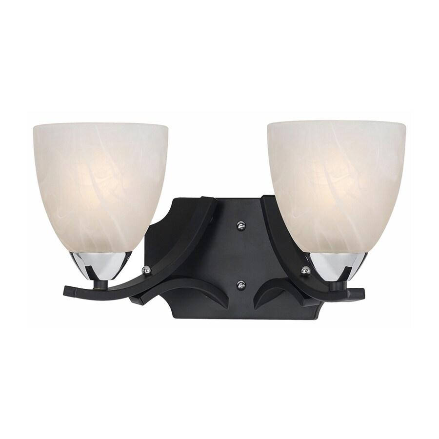 Lowes Black Vanity Lights : Shop Lumenno Value 2-Light 8-in Black Bell Vanity Light at Lowes.com