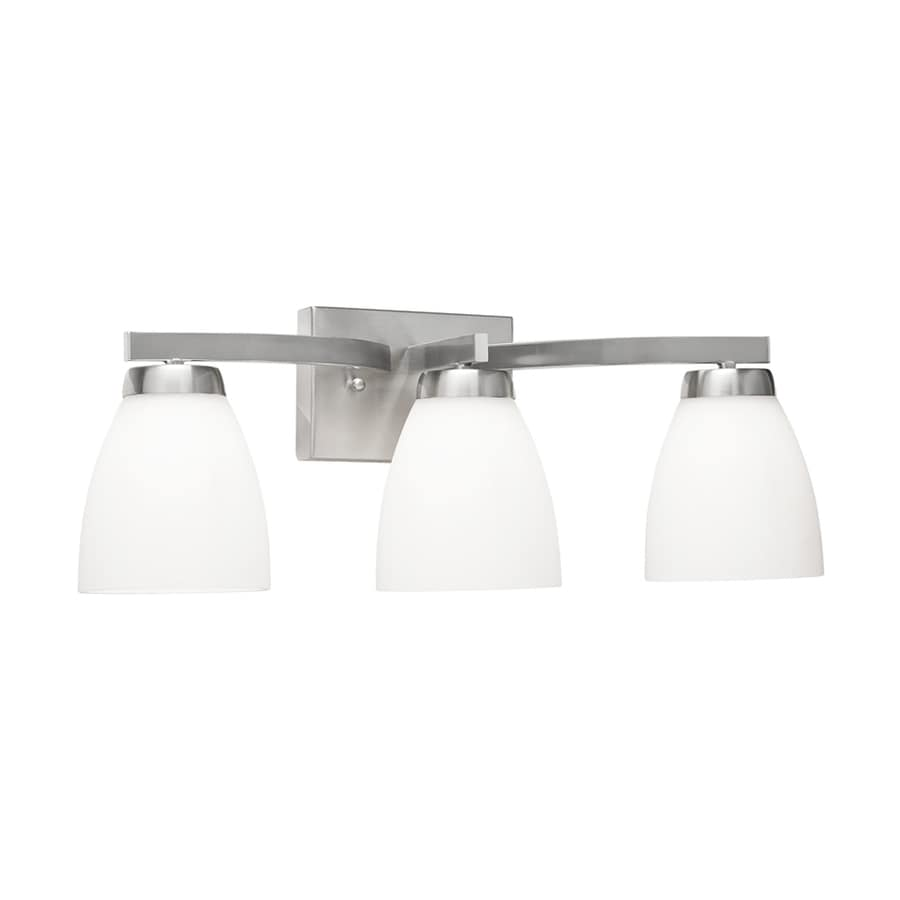 Led Vanity Lights Lowes : Shop Kichler Exclusives 3-Light 8.15-in Satin Nickel Bell LED Vanity Light at Lowes.com