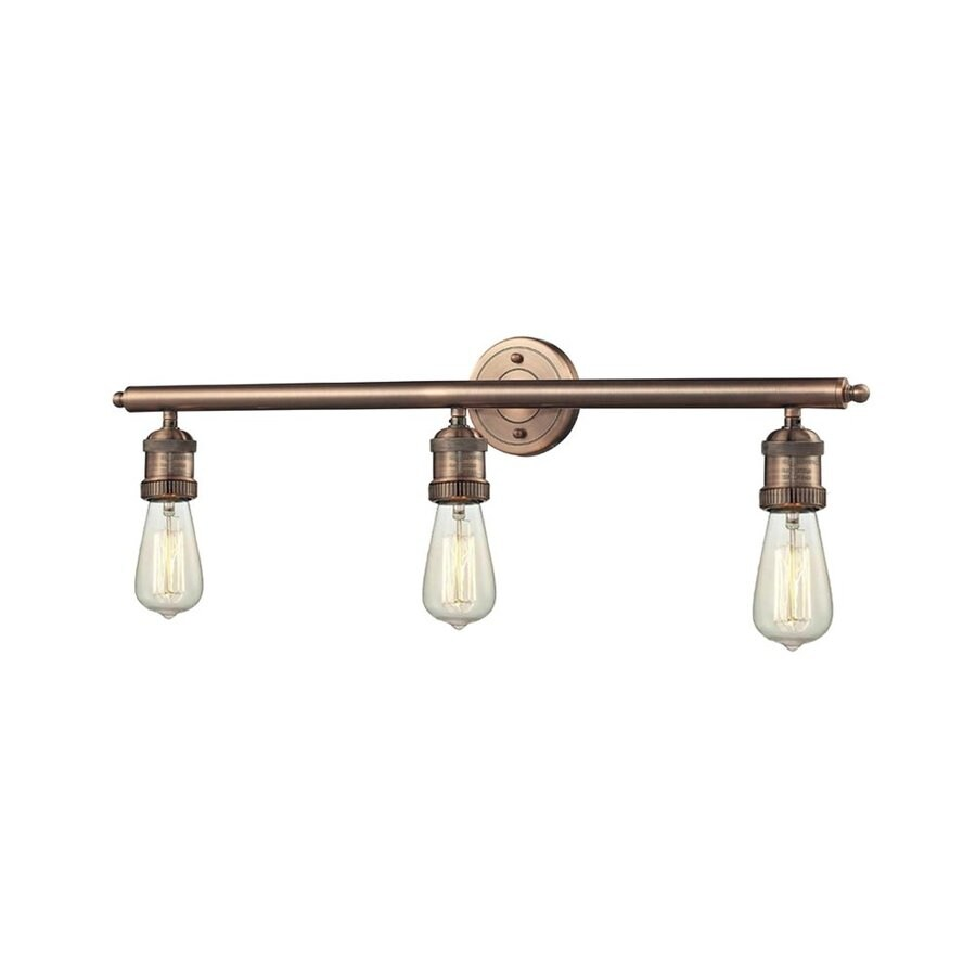 Shop Innovations Lighting 3-Light 29-in Antique Copper Vanity Light ...