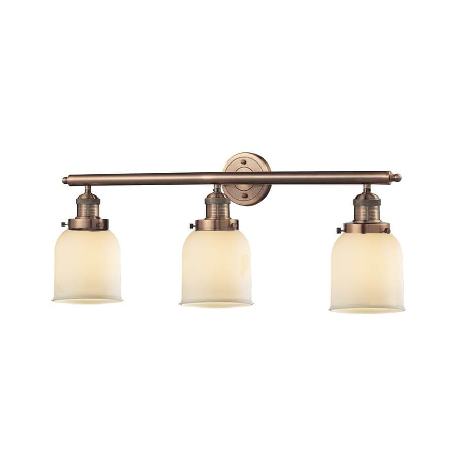 Innovations Lighting 3-Light 11-in Antique Copper Bell Vanity Light Bar