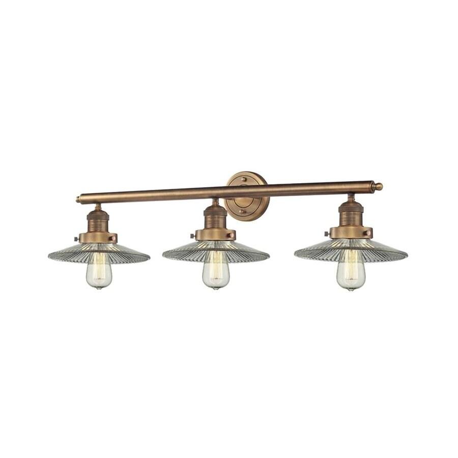 Innovations Lighting 3-Light 10-in Brushed Brass Warehouse Vanity Light Bar