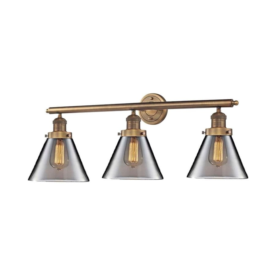 Innovations Lighting 3-Light 11-in Brushed Brass Cone Vanity Light Bar