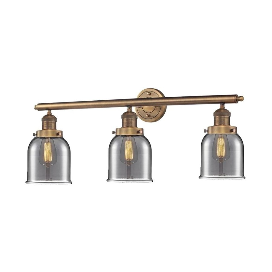 Shop Innovations Lighting 3-Light 30-in Brushed Brass Bell