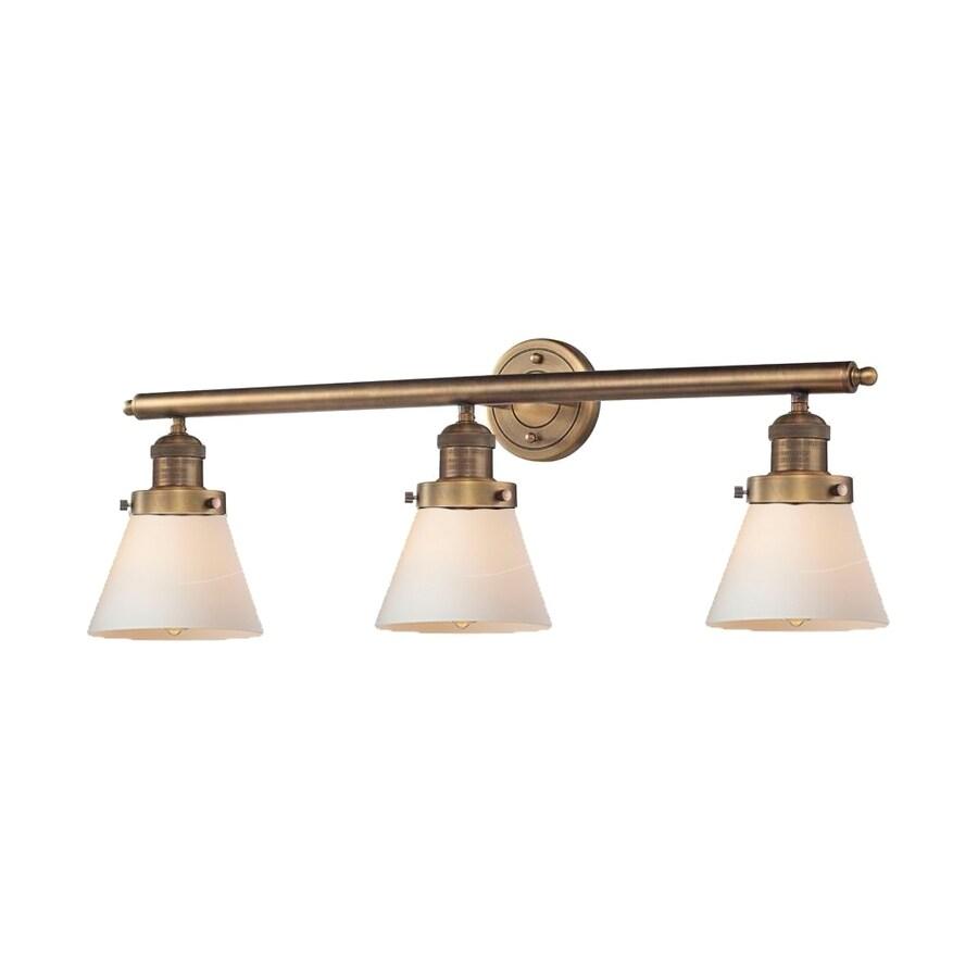 Innovations Lighting 3-Light 11-in Brushed Brass Cone Vanity Light Bar
