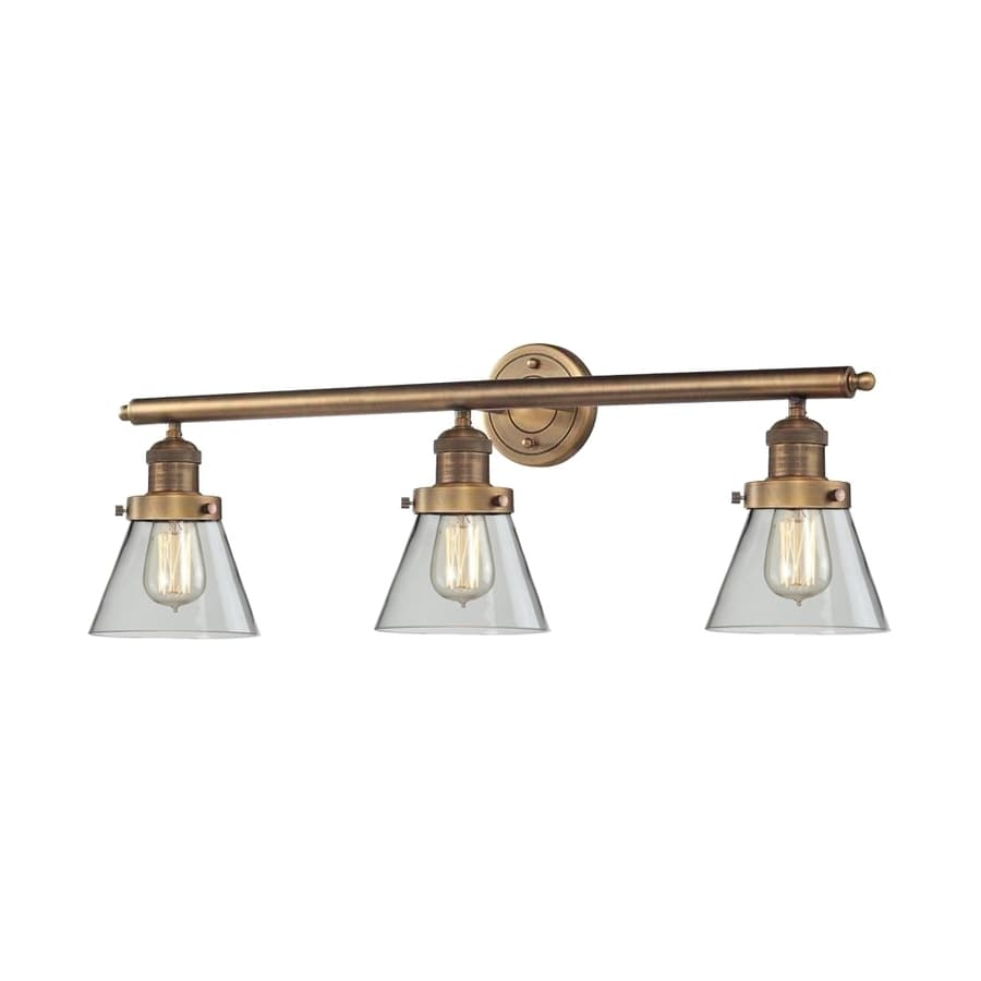 vanity bar light strips brass