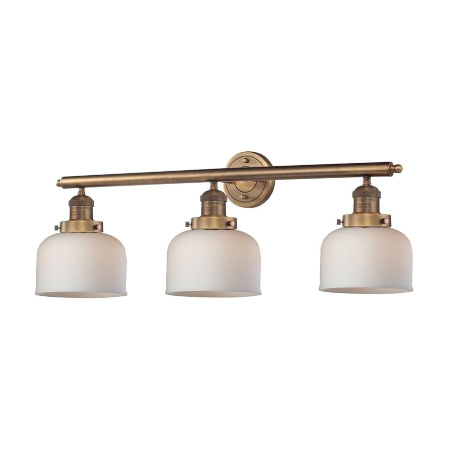 Innovations Lighting 3-Light 11-in Brushed Brass Bell Vanity Light Bar