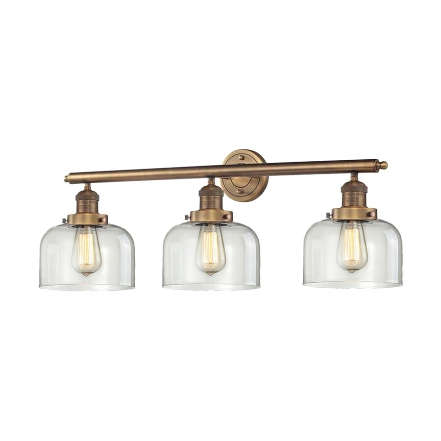 Innovations Lighting 3-Light 11-in Brushed Brass Bell Vanity Light Bar
