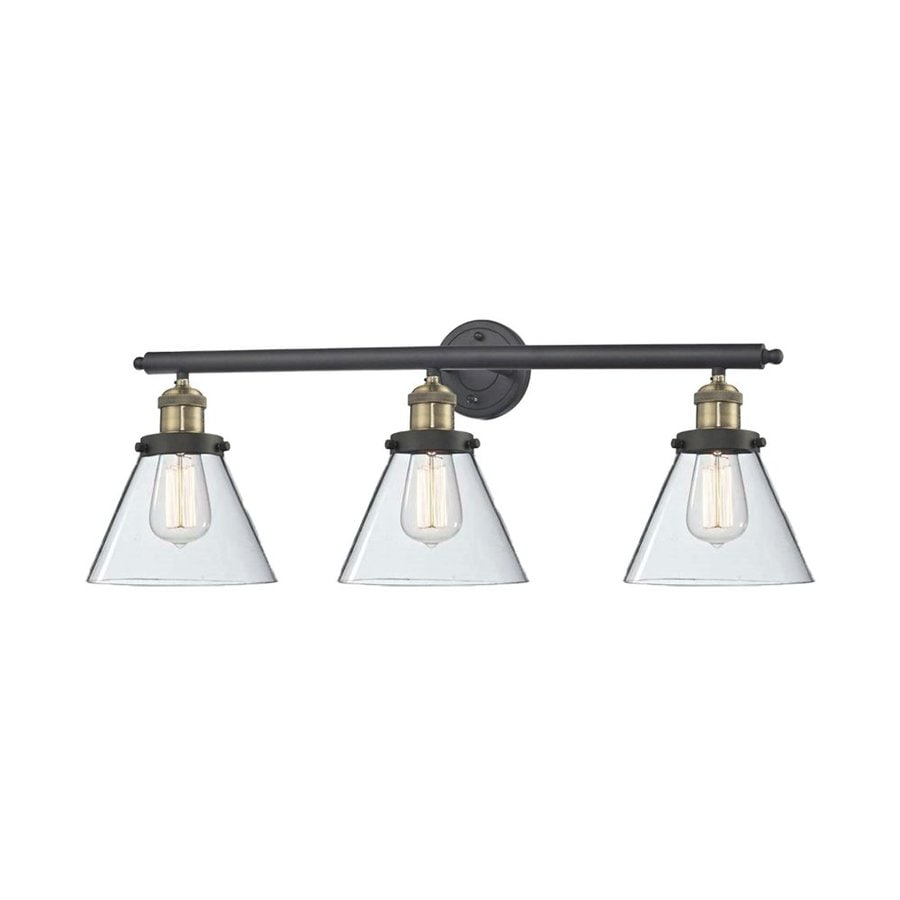 Shop Innovations Lighting 3-Light 11-in Brushed Brass Cone Vanity Light Bar at Lowes.com