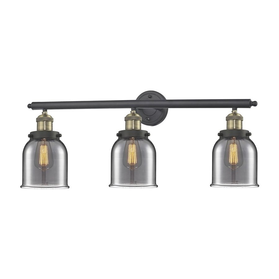 Shop Innovations Lighting 3-Light 11-in Brushed Black Brass Bell Vanity Light Bar at Lowes.com