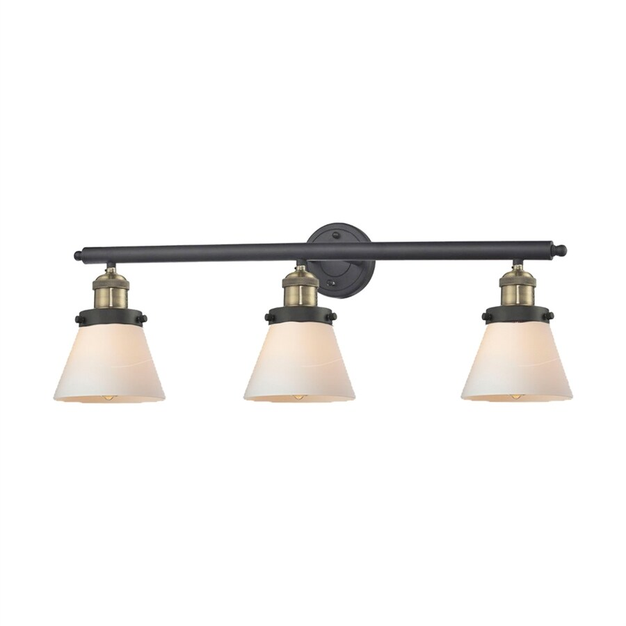 Innovations Lighting 3-Light 11-in Brushed Black Brass Cone Vanity Light Bar