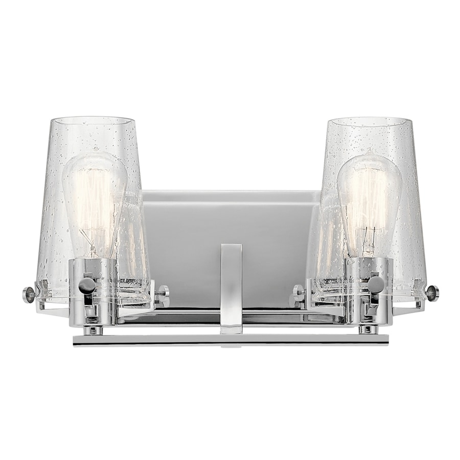 Replace Vanity Light Bar With Two Lights : Shop Kichler Alton 2-Light 8-in Chrome Cylinder Vanity Light Bar at Lowes.com