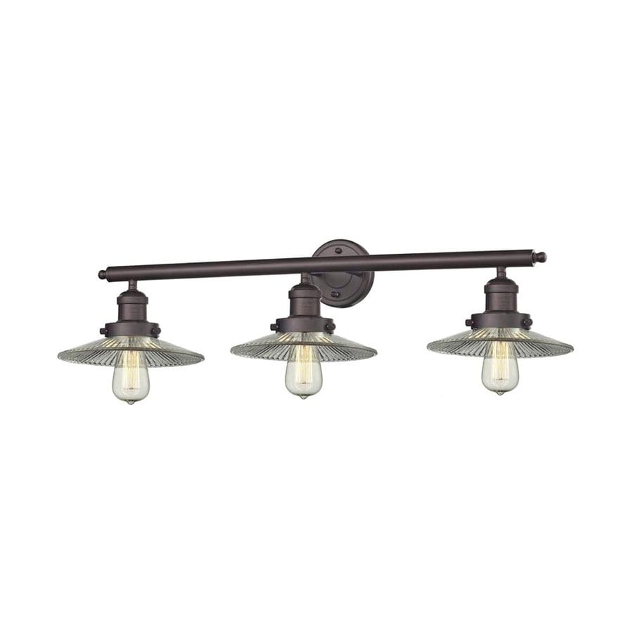 Innovations Lighting 3-Light 10-in Oiled Rubbed Bronze Warehouse Vanity Light Bar