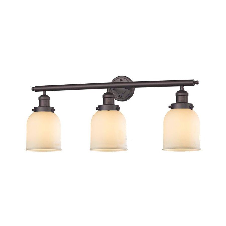 Innovations Lighting 3-Light 11-in Oiled Rubbed Bronze Bell Vanity Light Bar