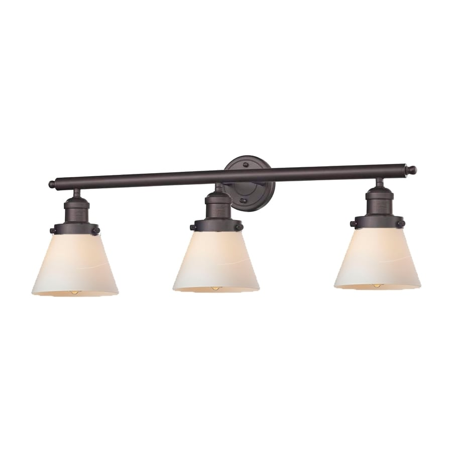 Shop Innovations Lighting 3-Light 11-in Oiled Rubbed Bronze Cone Vanity Light Bar at Lowes.com