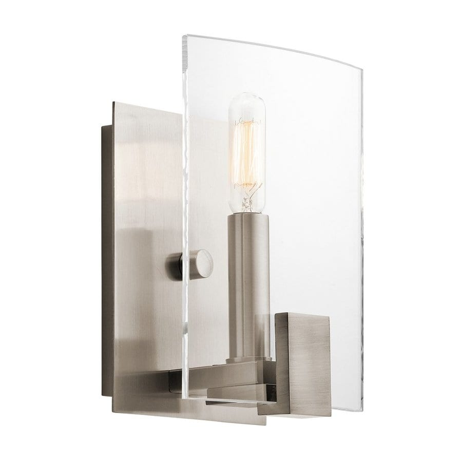 Kichler Signata 5.75-in W 1-Light Classic Pewter Candle Wall Sconce