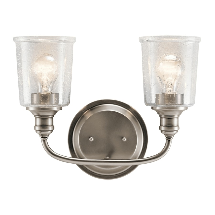 Kichler Waverly 2-Light 10.25-in Classic Pewter Cylinder Vanity Light Bar