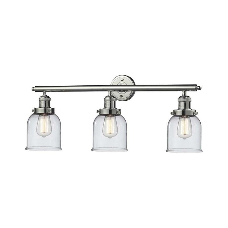 Innovations Lighting 3-Light 11-in Polished Nickel Bell Vanity Light Bar