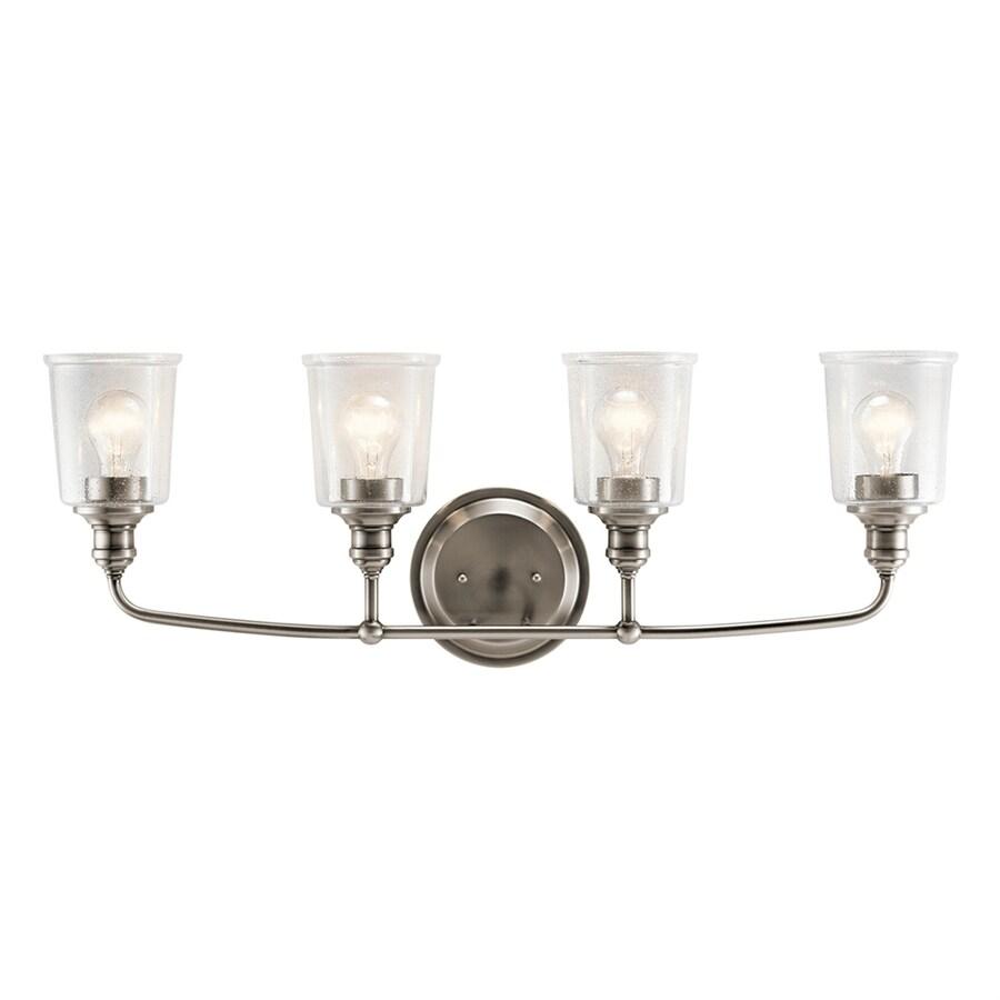 Kichler Waverly 4-Light 11.75-in Classic Pewter Cylinder Vanity Light Bar