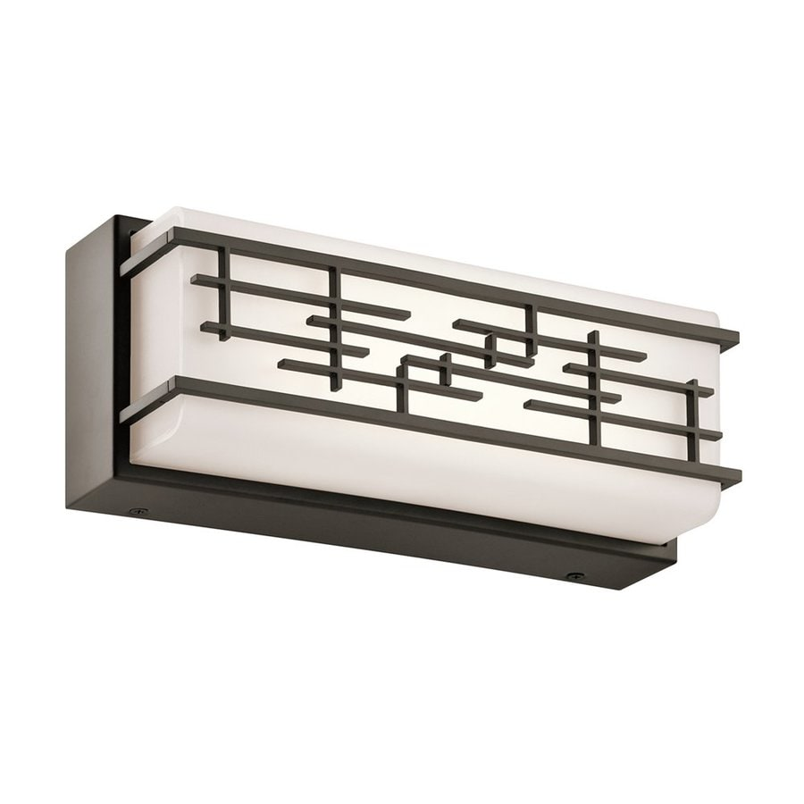 Vanity Light Bar Lowes : Shop Kichler Zolon 1-Light 5-in Olde Bronze Rectangle LED Vanity Light Bar at Lowes.com