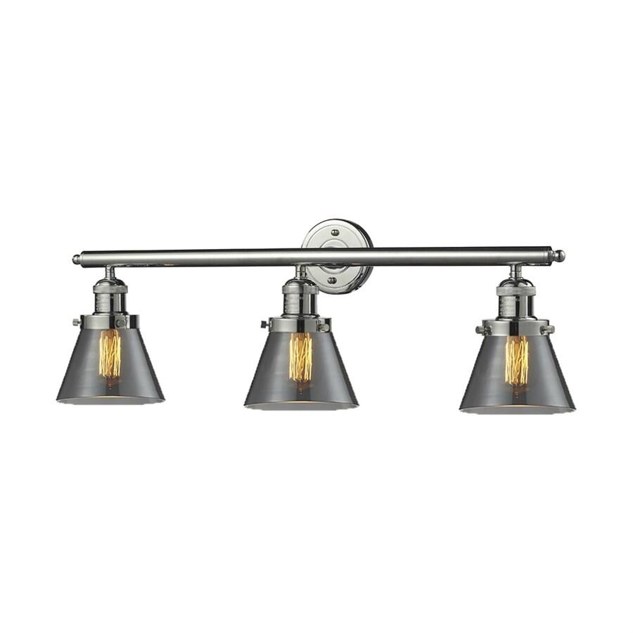 Innovations Lighting 3-Light 11-in Polished Nickel Cone Vanity Light Bar