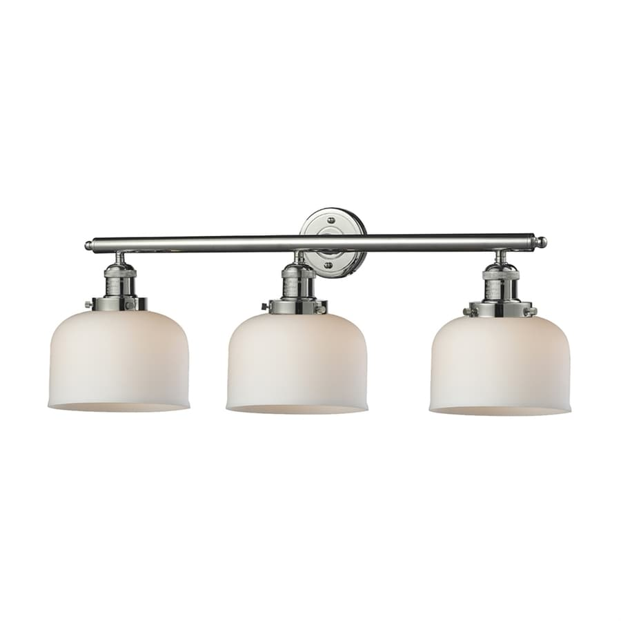 Innovations Lighting 3-Light 11-in Polished Nickel Bell Vanity Light Bar