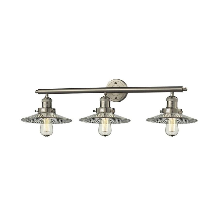 Innovations Lighting 3-Light 10-in Satin Nickel Warehouse Vanity Light Bar