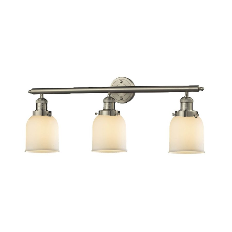 Shop Innovations Lighting 3 Light 11 In Satin Nickel Bell