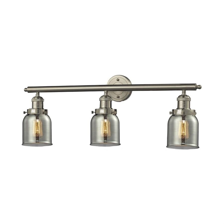 Innovations Lighting 3-Light 11-in Satin Nickel Bell Vanity Light Bar