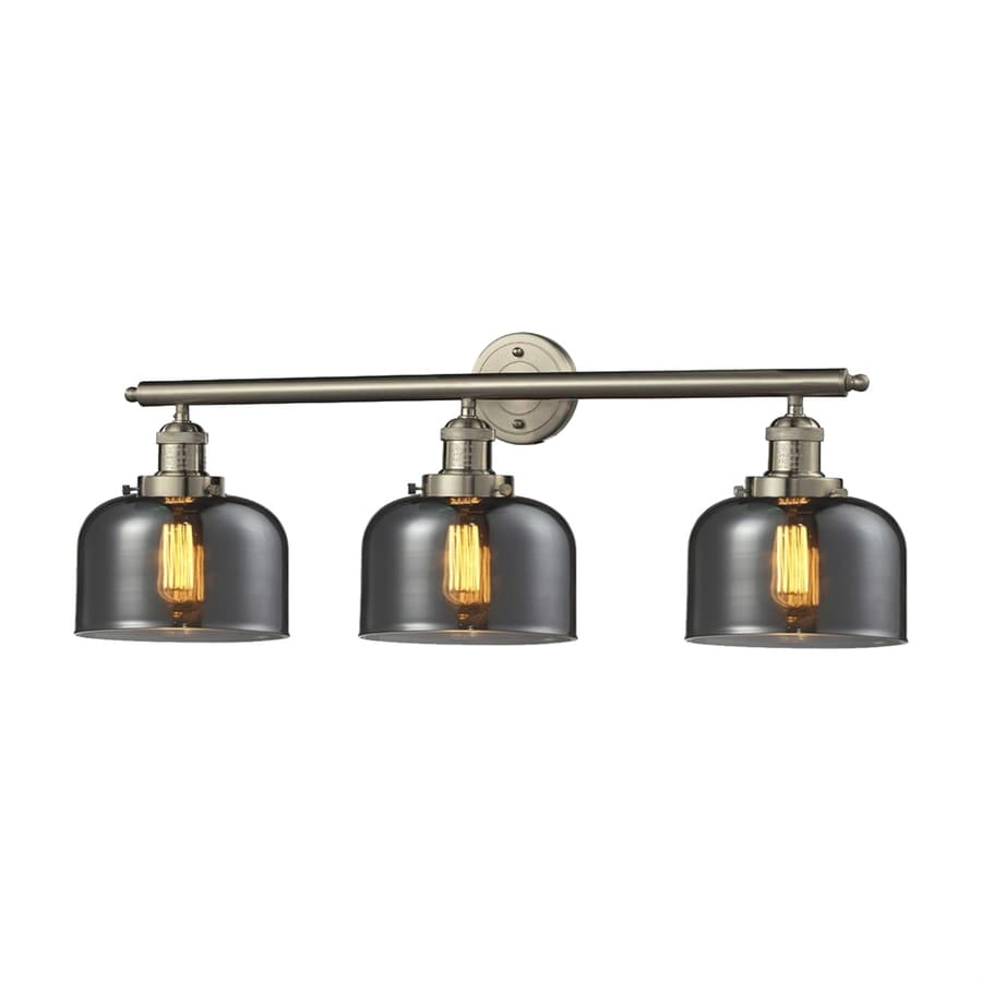 Vanity Light Bar Lowes : Shop Innovations Lighting 3-Light 11-in Satin Nickel Bell Vanity Light Bar at Lowes.com